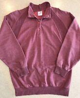 80/90s Vtg Mäser USA Synchilla Snap Pullover Heather Magenta Mens L Ski Sweater