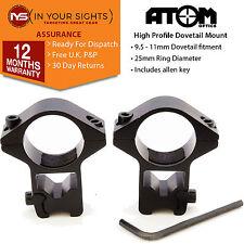 25mm 2.5cm pistolet à air comprimé support lunette/Lunette de visée anneaux pour