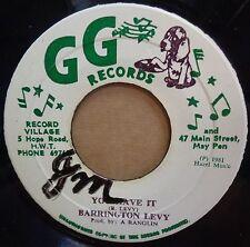 BARRINGTON LEVY YOU HAVE IT ORIGINAL JAMAICAN GG RECORDS 45 CLIP