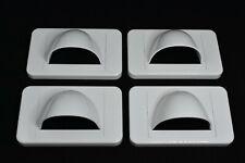 4x White Bullnose Media Wall Plates + Plaster Clips + Bristles Bull Nose