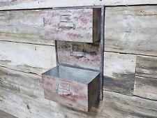 Vintage Industrial  wall store shelf  cabinet storage urban rustic painted