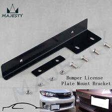 Universal Aluminum Bumper Front License Plate Mount Relocate Bracket Brush Black