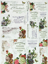 Rice Paper -Flower Cards- for Decoupage, Scrapbooking Sheet