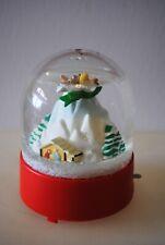 Vtg Snow Dome Globe Willits First Noel Angel Motion Music Box Snowdome Snowglobe