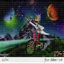 Rick in the Hofmann Dimension by OverDosed Signed #ed BLOTTER ART acid free lsd