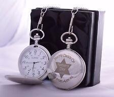 Reloj De Bolsillo láser Personalizado Día Del Padre en Caja De Regalo Para Papá/Padre/Abuelo