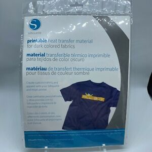 SILHOUETTE Printable Heat Transfer Material for DARK Colored Fabrics NEW SEALED