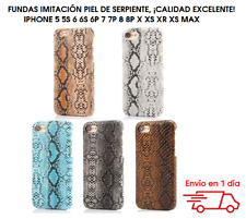 Funda piel de serpiente iphone 5 5s 6s 6 Plus 7 8 7 PLus IPHONE X XS XR XS MAX