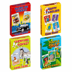 Children's Card Games Happy Families Jungle Snap Donkey Pairs Snap Kid's Game