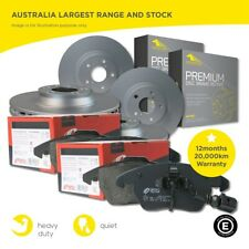 Front and Rear Brake Pads and Disc Rotors set for VW Golf 2005-2014 280mm Front
