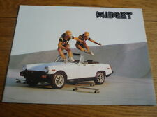 MG Midget BROCHURE DI VENDITA 1978 mercato USA