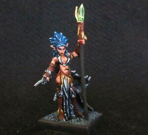 Reaper Miniatures, Liela, Dark Elf Sorceress (Metal) Painted D&D,Dark Sword