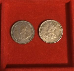 Stock 2 Coins Great Britain George V 10 Cent 1926