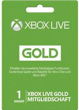 XBOX 360 LIVE 1 MONAT GOLD MITGLIEDSCHAFT KARTE CODE 1 MONTH Key CARD