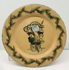 """Bethany Lowe Designs Mountain Delivery Santa Collector Series Plate 1987 10.5"""""""
