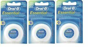 3x Oral B Essential Waxed Dental Floss Mint Flavor 50 Meter Best Price |