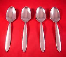New listing Oneida Emery 4 Stainless Frost/Satin Handle Oval Soup Spoons New Usa
