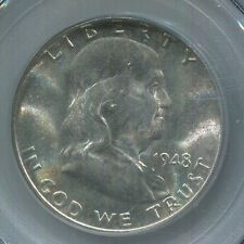 1948-D 50C -MS-64 FBL PCGS- Franklin Silver Half Dollar