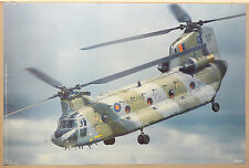(PRL) 1989 R.A.F BOEING HELICOPTER ELICOTTERO VINTAGE AFFICHE PRINT ART POSTER