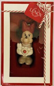 NIB Disney Lenox Minnie's Sweetheart Gem Christmas Holiday Ornament Minnie Mouse