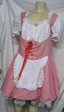 California Costumes Women's Med Miss Red Riding Hood Halloween Farm Girl Rd/Wh