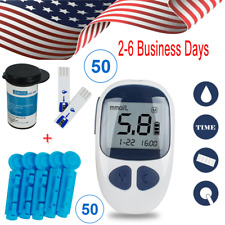 Blood Glucose Kit Glucometer Sugar Meter Monitor Diabetes + strips Tester CE FDA
