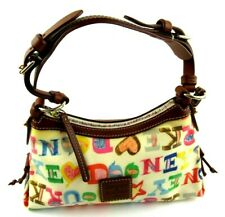 Dooney & Bourke Crayon Spell Out Rainbow Zipper Ladies Handbag EUC