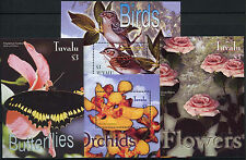 Tuvalu 2003 SG#MS1112 Flowers & Birds MNH M/S Set #A86519