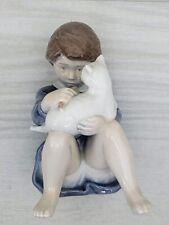 Royal Copenhagen Girl with Cat Porcelain Figurine 4631