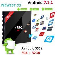 H96 Pro+ Amlogic Octa-core Android 7.1 TV Box 3G+32G WiFi BT HDMI Media Player
