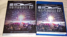 Independence Day (Blu-ray, 2016, 2-Disc set) with slipcover and digital copy