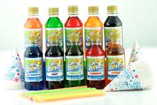 Snow Cone Slush puppy Syrup 'Rainbow' 250ml 5 Pack.Use with all slushie machines