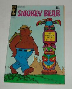 SMOKEY BEAR #4 GOLD KEY COMICS 1970 TV SERIES CARTOON CHARACTER TOTEM POLE COVER