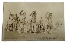 Antique Photograph Photo Postcard Pow Wow Native American 4th Of July