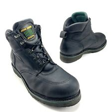 JOHN DEERE Mens Size 12W Black Work Boots