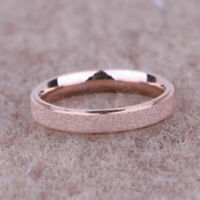 Rose Gold Frosted Titanium Steel Wedding Band Ring Men/Women's Size 5-12