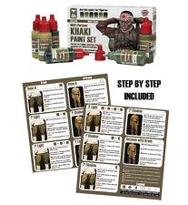 Andrea Miniatures WW2 Khaki Paint Set 6 Bottles