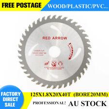 TCT saw blade Circular wood plastic 125*1.8*20*40t wood Reduc ring tct sawblade