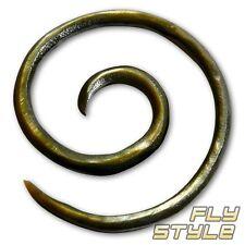 Perlmutt Spirale Ohrringe piercing expander ohr plug tunnel horn holz bh muschel