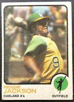 REGGIE JACKSON 1973 TOPPS VINTAGE BASEBALL CARD #255