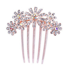 Crystal Flower Peacock Crown Wedding Bridal Hair Pins Clips Fashion Jewelry