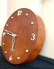 SOLA Wall Clock American Contemporary Brown Wooden Design 1970s