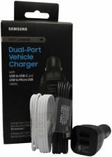 Samsung EP-LN920BBEGUS Dual USB Port fast Car Charger With USB-C & Micro Black