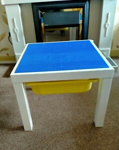 KIDS BUILDING BLOCK TABLE WITH STORAGE FULLY COMPATIBLE WITH LEGO FREE SHIPPING