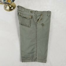 Twill 22 Womens Embellished Embroidered Chino Shorts Casual Olive Green Sz 28