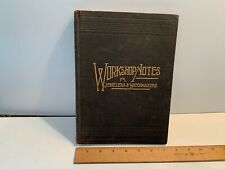 1892 WORKSHOP NOTES FOR JEWELERS & WATCHMAKERS, Jeweler's Circular