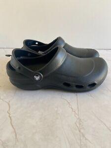 Crocs Specialist Black Vent Clogs 10074-001 Size Men's 6 Women's 8 New W/Tag