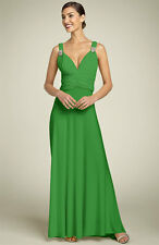 NEW JS Boutique V-Neck RHINESTONES DRESS GOWN WEDDING SIZE 2 GRASS GREEN