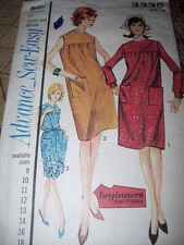 1963 ADVANCE #3335 - LADIES ( 3 STYLE - BEGINNERS ) STRAIGHT DRESS PATTERN  14