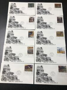 US FDC 3802 Arctic Tundra First Day Cover  Complete Set Of 10 Artcraft Covers